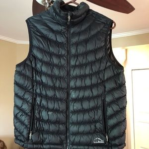 Black L.L. Bean Ultralight 850 Down Vest Size Lg